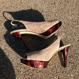 🐢 Stuart Weitzman tortoiseshell sling-back 8 EUC